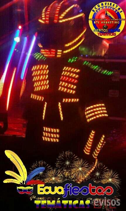 Ecuafiestas temáticas los únicos en guayaquil con el verdadero show de trajes led  dale un toque de elegancia y distinción a tu fiesta o evento social. un show de calidad, con ritmo, luces laser, colores, luces frias.  show de trajesd led láser y pirotecni