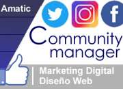 $79 Community Manager , Redes Sociales , Marketing Digital y Diseño Web