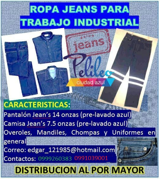 Ropa jeans de trabajo industrial