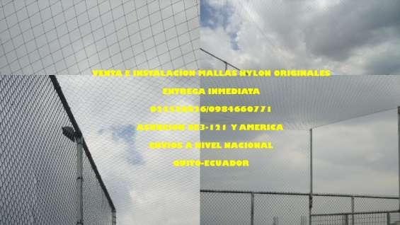 Redes de cerramiento en nylon resistente ala intemperie de canchas 0984660771