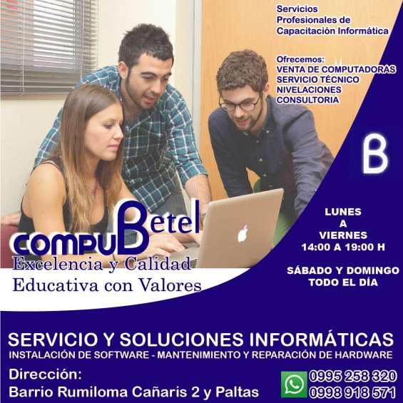 Compu betel: venta de computadoras y servicio técnico