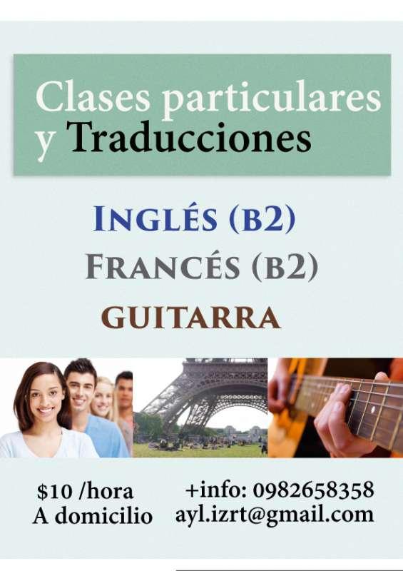 Clases de idiomas y guitarra a domicilio