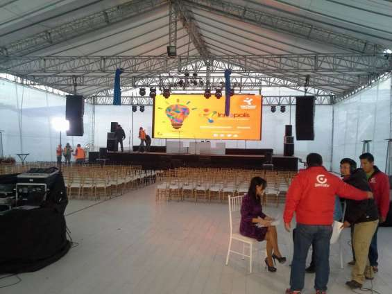 Pantallas led, cctv, sonido, mapping, luces