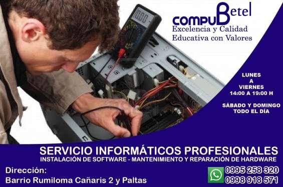 Compu betel: servicio técnico y reparación de computadoras, impresoras