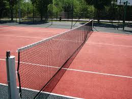 Redes de tenis importados con contorno y cable de acero