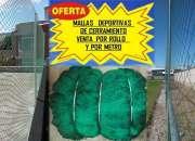 MALLAS PARA CERRAMIENTO DE ESPACIOS DEPORTIVOS 022526826
