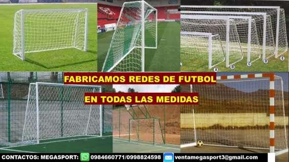 Mallas y redes de canchas de fútbol en todas las medidas en quito