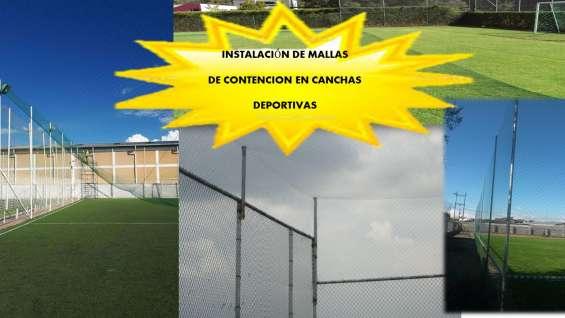 Mallas nylon cerramiento de areas de fútbol en todas las medidas
