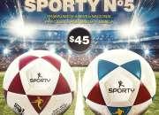 Balón de fútbol en promoción sporty n°5 ecuador