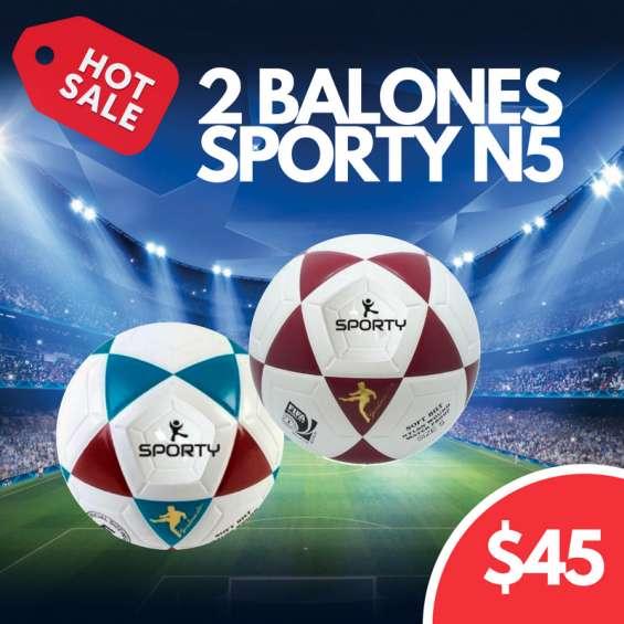 Balones originales de fútbol sporty en promoción 022526826 ecuador