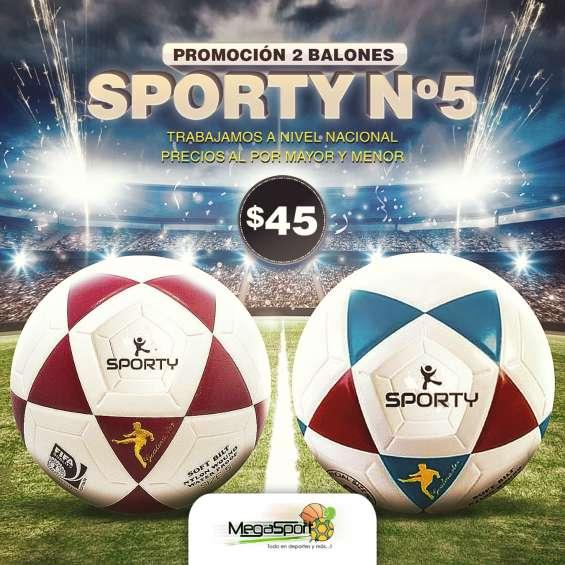 Nueva promoción de este mes en balones de fútbol sporty 022526826