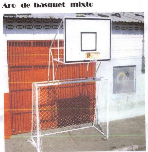 Tableros de basquet mixto con protector movibles quito ecuador